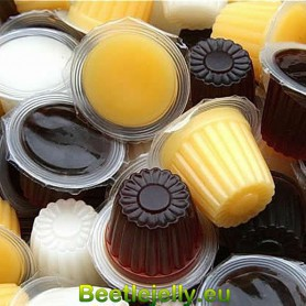 100 Pieces of 16g Brown sugar flavor jelly