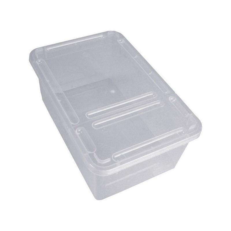 Braplast Rectangular box 1.3L - Clear base + clear foldable lid